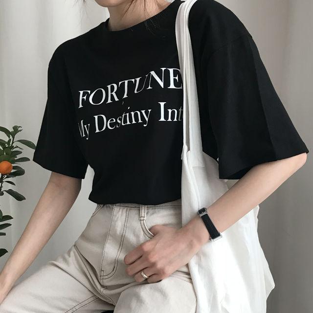 ♥주문폭주♥무료배송♥Catalina T 데일리 레터링 포인트 반팔티셔츠-상세이미지3