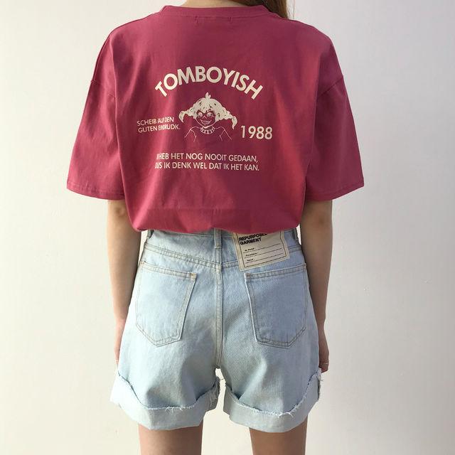 [1+1] 삐삐 오버핏 반팔 티셔츠 (3Color)-상세이미지1