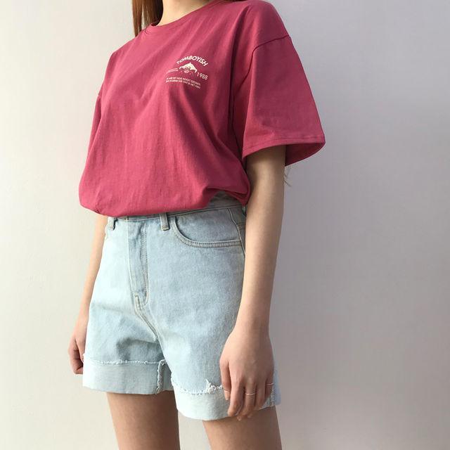 [1+1] 삐삐 오버핏 반팔 티셔츠 (3Color)-상세이미지3