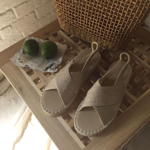 [인기상품 재입고] 크로스 에스파듀 샌들 (2.5cm)-상세이미지1