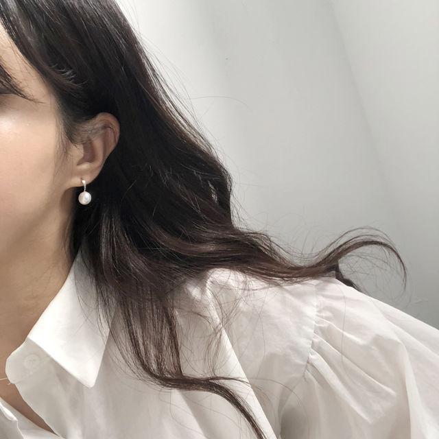 (당일발송)오드리 진주 이어링-상세이미지2