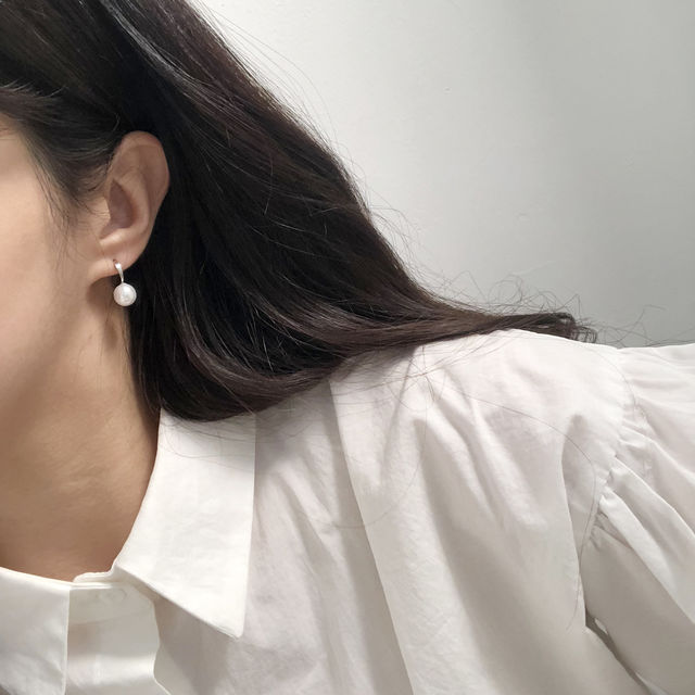 (당일발송)오드리 진주 이어링-상세이미지4
