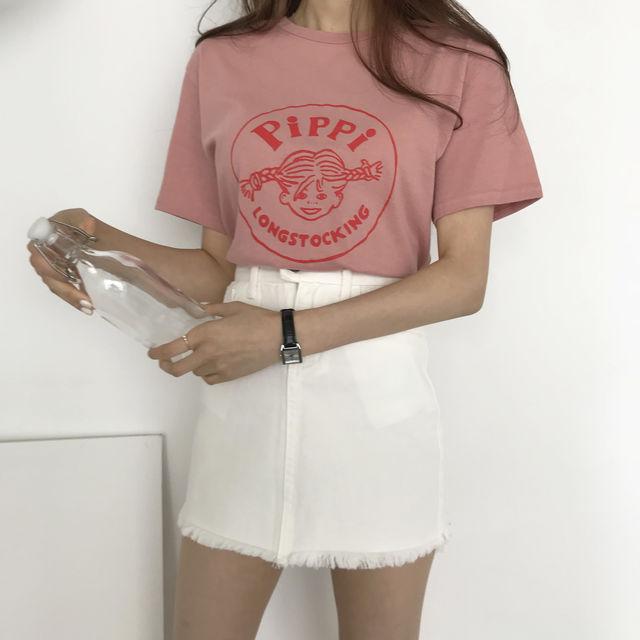 ★주문폭주★ 삐삐 티셔츠 (4color)-상세이미지1